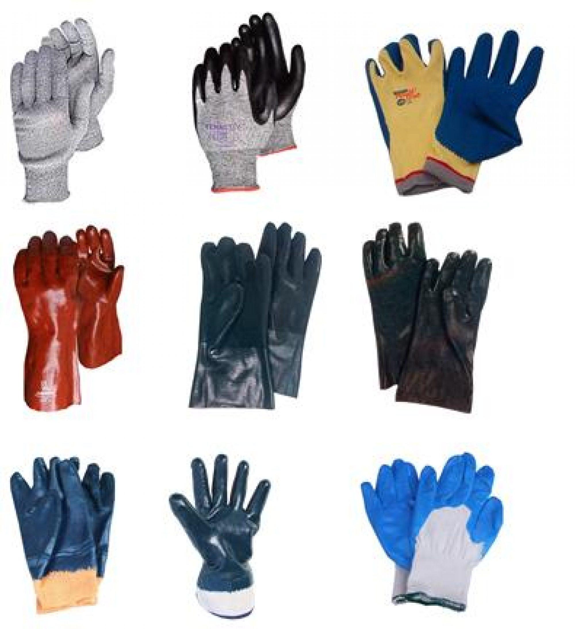 Le codex des gants de tricot avec enduit.
